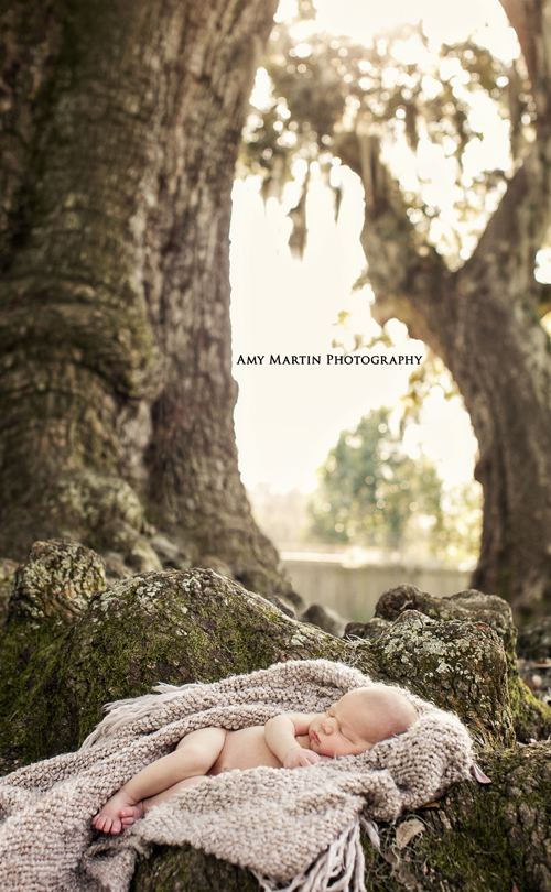 Outdoor Newborn Photographer New Orleans Louisiana